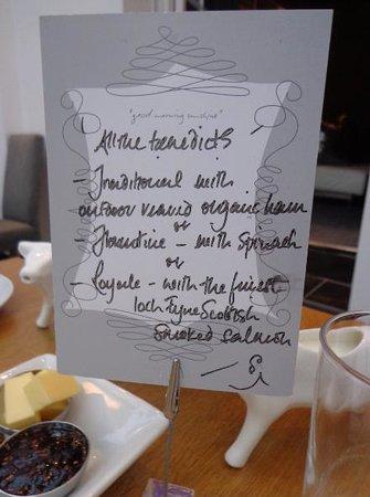 94DR: Breakfast menu - day 2