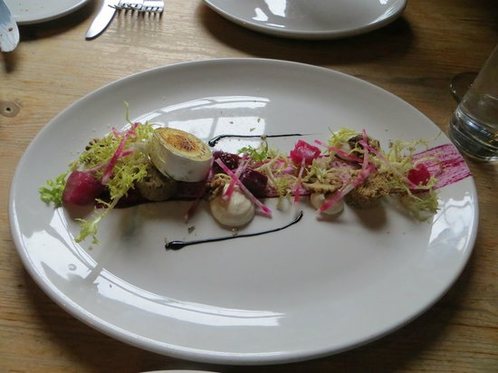 The Grain Store : Goat cheese beet salad, a lesson in the art of beautiful food