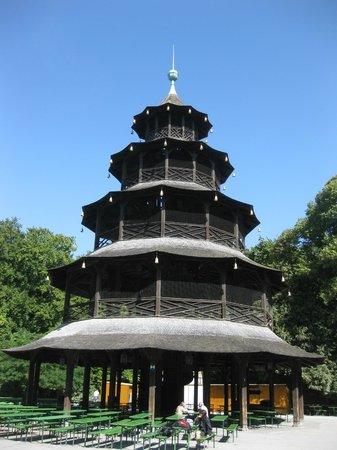 Biergarten am Chinesischen Turm: Chinesischer Turm