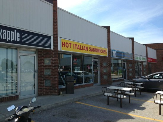 Mama's Hot Italian Sandwiches: Hot Italian Sandwiches. The name says it all. Note the outdoor seating.