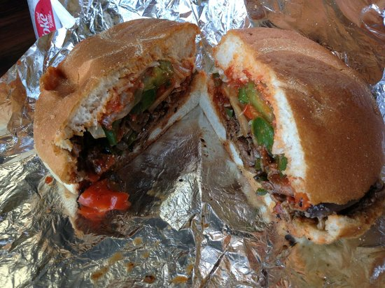 Mama's Hot Italian Sandwiches: A spicy steak sandwich with the works... divine!