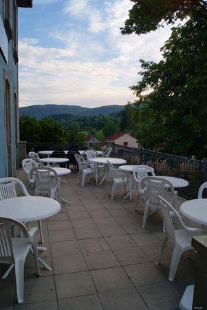 Hotel Le Tilleul Bleu: terrasse