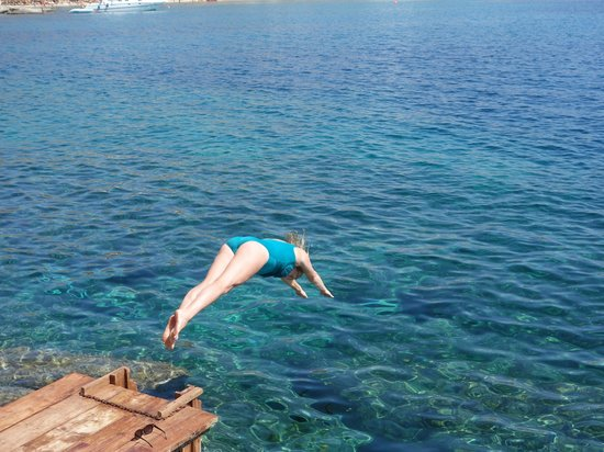 San Giorgio: dive from private boardwalk into crystal clear waters