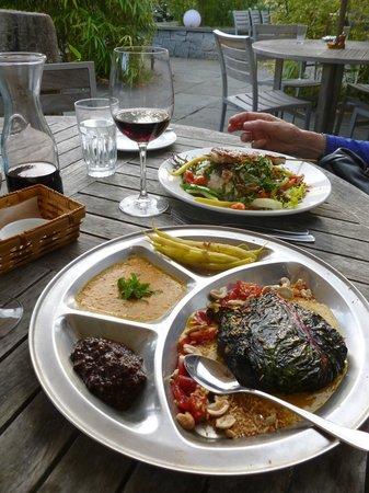 Backdoor Kitchen & Catering: East Indian vegetarian plate
