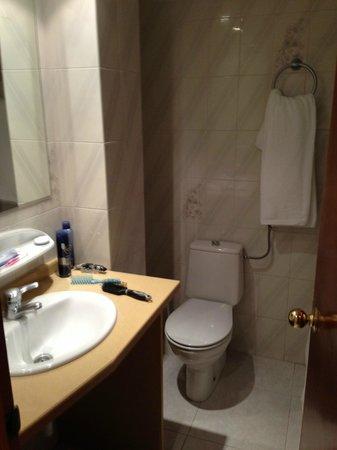Apartahotel La Sirena: Bagno abbastanza spazioso e pulito