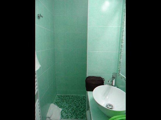 Hotel l'Amandiere: Salle de bain avec douche