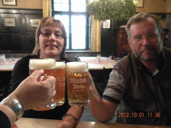 Mahrs Bräu: Prost! We are at Mahr's Brau :)