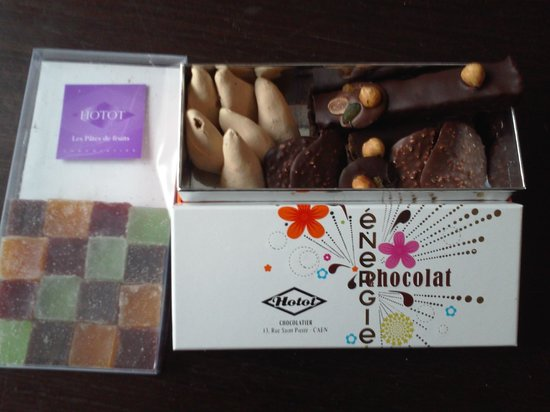 Hotot Chocolaterie du Drakkar : assortiments de gourmandises