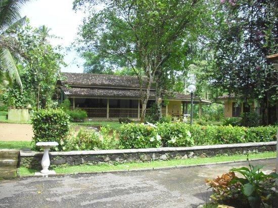 The Plantation Villa: Treatment centre in the background