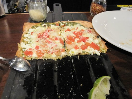 Mustang Tavern : Now that is a great looking and delicious Shrimp Flatbread