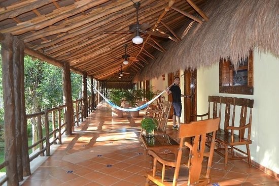 The Lodge at Uxmal: Our terrace and entrance to our room