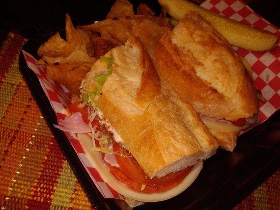 D'Andreas' Deli Grill & Bakery : The Italian Combo on Italian Sub Roll!  All the way!