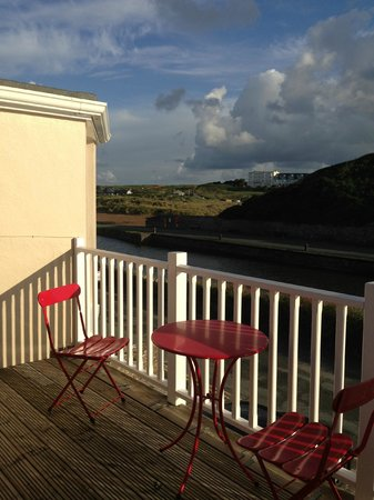 Breakwater House : View from the balcony of the Red Room