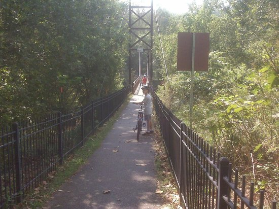 Patapsco Valley State Park: Walk your bike on suspension bridges