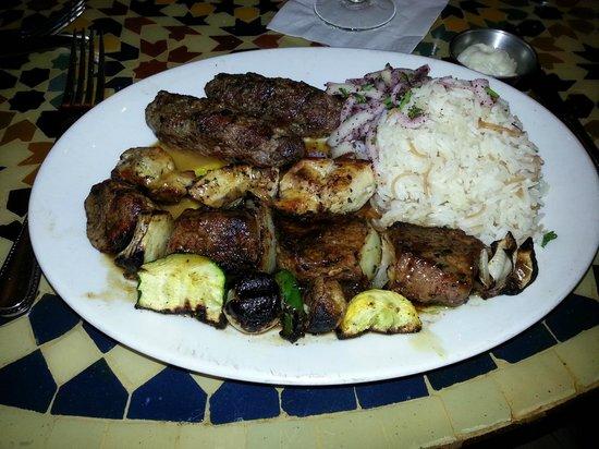 Lebanese Taverna: Kabob with rice