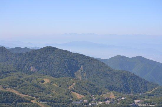 東館山展望台から - 山ノ内町、...