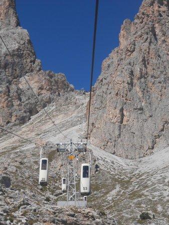 Telecabin Forcella del Sassolungo: La salita