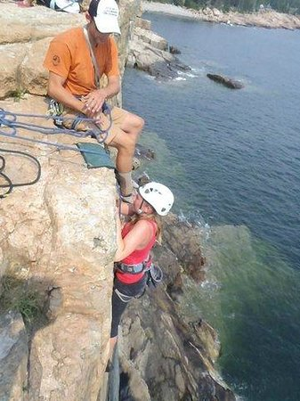 Atlantic Climbing School: Almost at the top