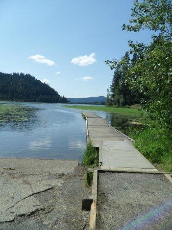 Heyburn State Park: Dock at Benewah Campground