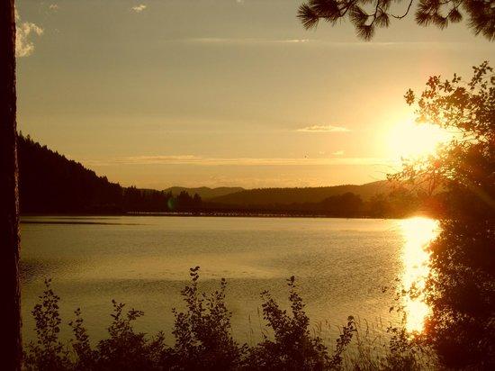 Heyburn State Park: Sunset over Benewah Lake from Benewah Campground