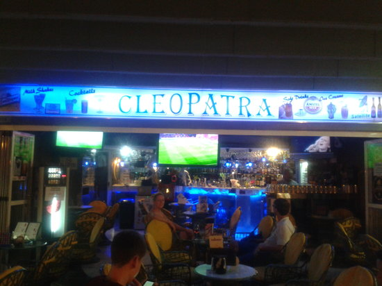 Pub Cleopatra: Outside of the bar on a midweek evening