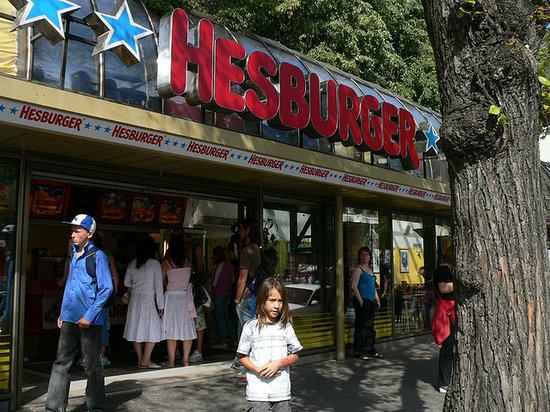 Outside Hesburger Outlet, Tallinn