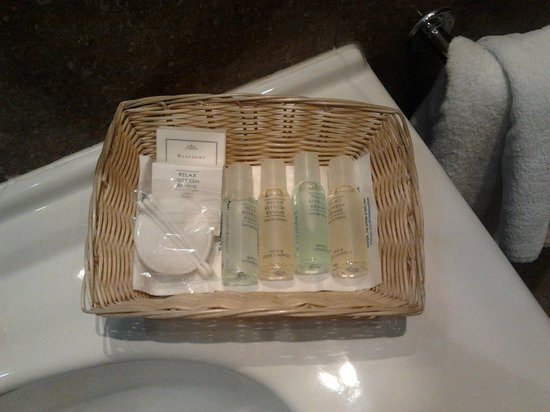 Hotel Capital: panier cosmétiques