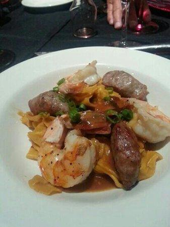 Il Forno Classico: The secret dinner. Decontructed pot sticker w/.Fresh Pappadelle pasta