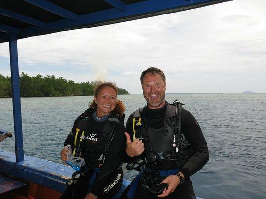 Bunaken Cha Cha Nature Resort: Going down!