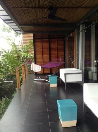 Kura Design Villas Uvita: our balcony