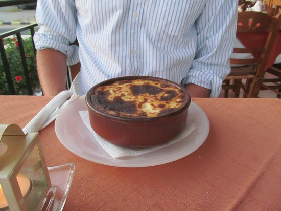 "Periklis : ""Best Moussaka ever"" according to my partner."