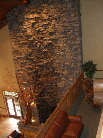 The Keeter Center at College of the Ozarks - Lodging: Fireplace in lodge