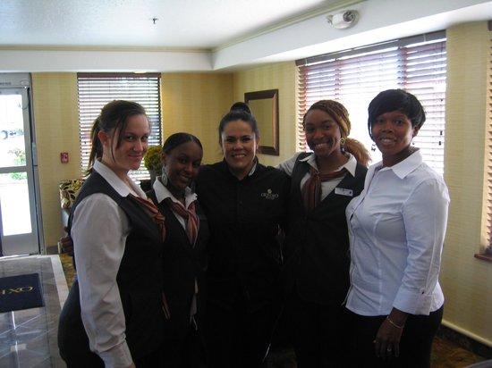Oxford Suites Lancaster: The best Guest Service Staff ever & me