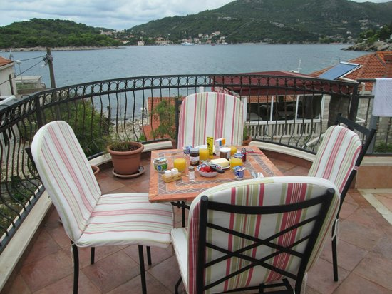 Villa ANA: Terrace with bay views