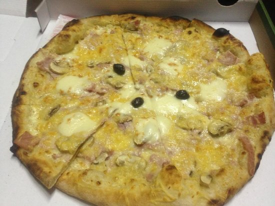 Pizza Pierrot: Creme fraiche based ham pizza