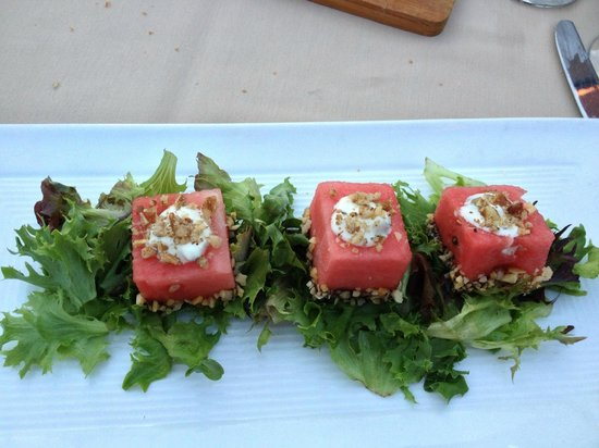 Mombo : Watermelon and Whipped Feta Salad