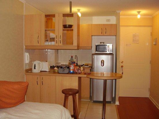 Hotel Vegas: Cozinha equipada do apart hotel