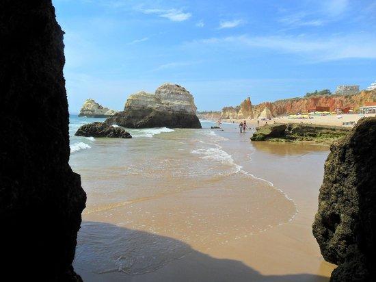 Flor da Rocha - Touristic Apartments : Lovely beach in Praia Da Rocha, nice walks and some little caves to visit.