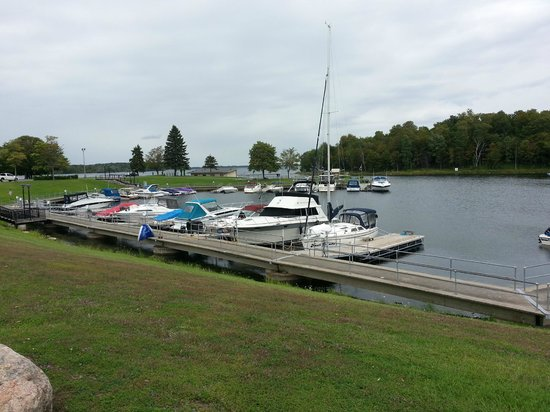 The Marina at Robert Moses State Park in Massena, NY