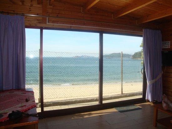 "Camping Bayona Playa: A vista da ""casa""... de dia"