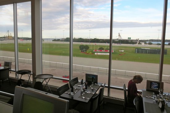 Red Shores Racetrack & Casino : View of the horse racetrack (there was no race on when we went). Still a nice view!