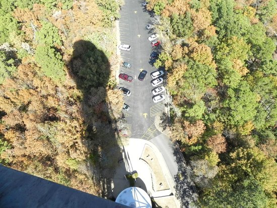 Hot Springs Mountain Tower : shadow of tower looking down