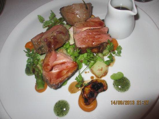 Restaurant at Shibden Mill Inn: The lamb