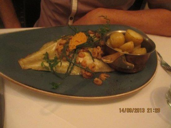 Restaurant at Shibden Mill Inn: The plaice