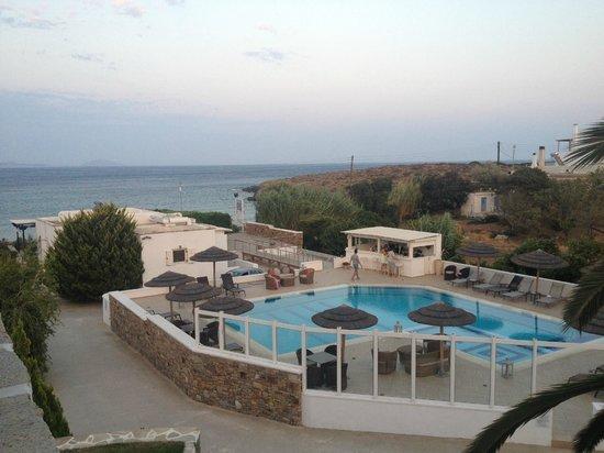 Ostria : vue chambre terrasse