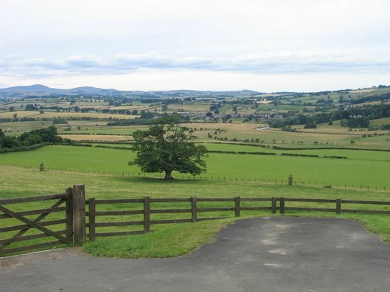 Tosson Tower Farm: view over Coquet valley
