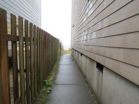 Tradewinds Motel: walk way to the beach