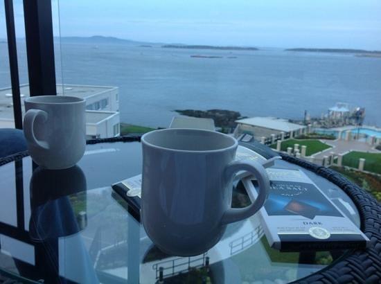 Oak Bay Beach Hotel: our balcony view!