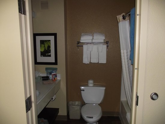 Extended Stay America - Orange County - Anaheim Convention Center : Bathroom was neat and tidy