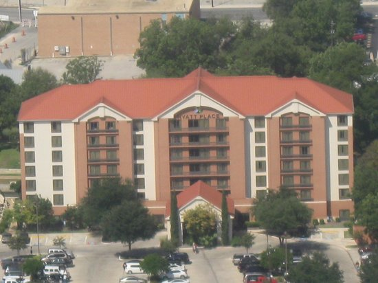 Hyatt Place San Antonio/Riverwalk : TAKEN FROM ATOP THE 'TOWER OF THE AMERICAS'